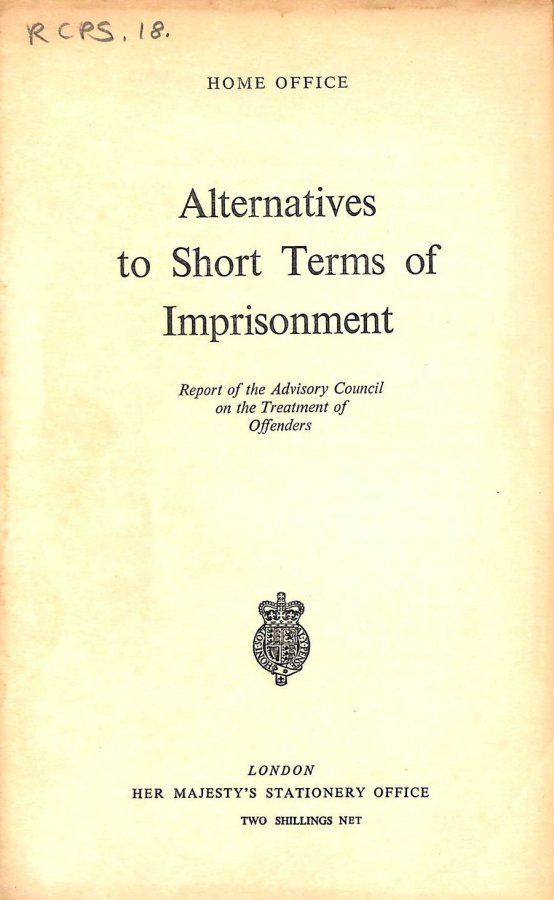 Image for Alternatives to Short Terms of Imprisonment