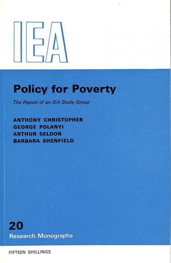 Image for Policy for Poverty (Research Monograph)