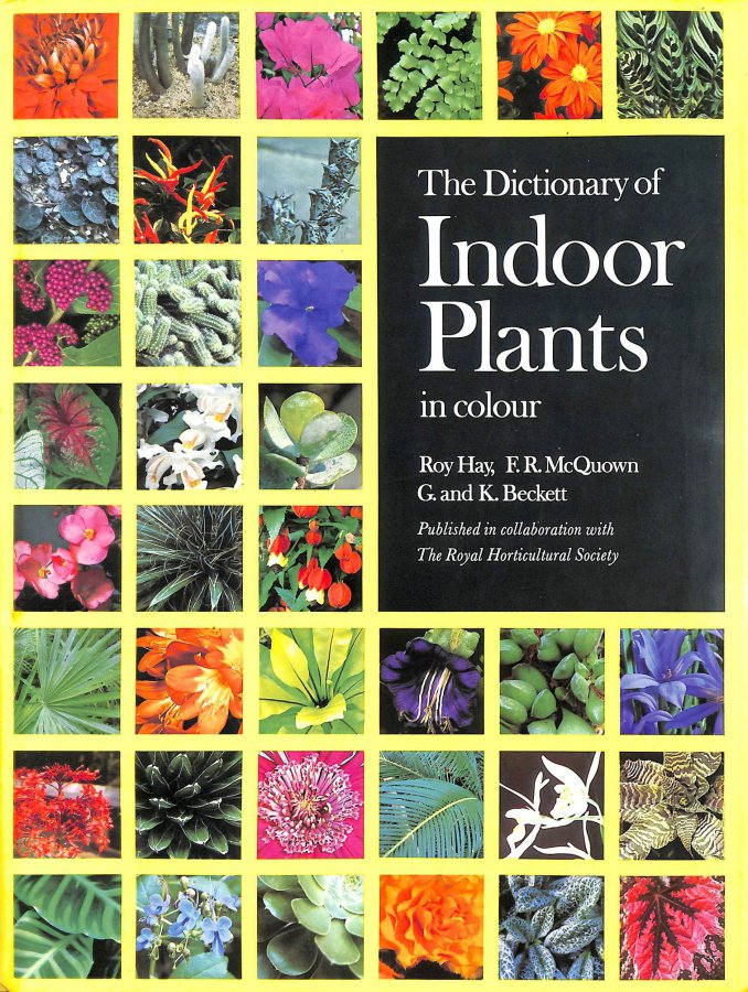 Image for THE DICTIONARY OF INDOOR PLANTS IN COLOUR.