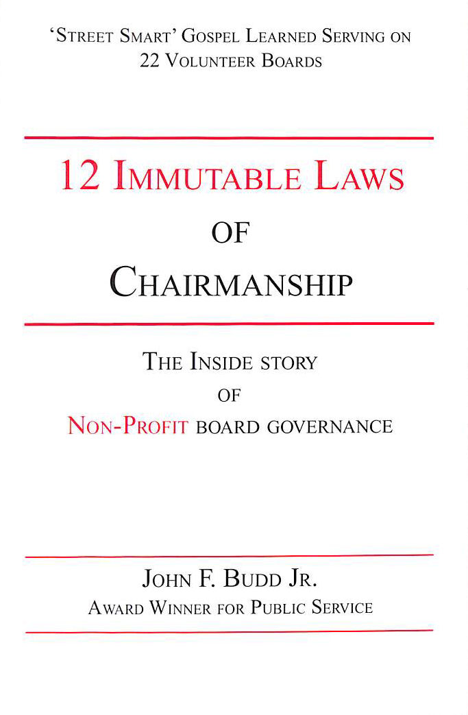 Image for 12 Immutable Laws of Chairmanship
