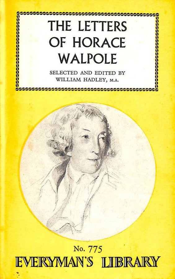 Image for Everyman`S Library No 775. The Letters Of Horace Walpole (Englischsprachig)