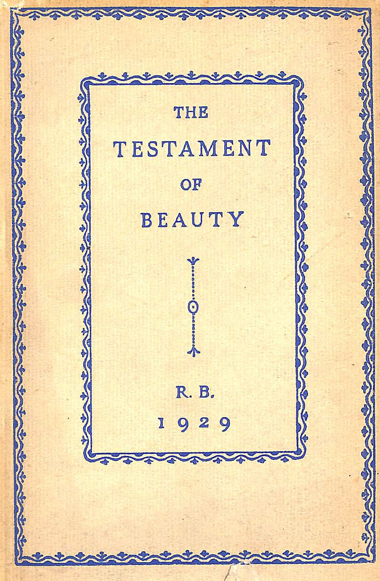 Image for The Testament Of Beauty