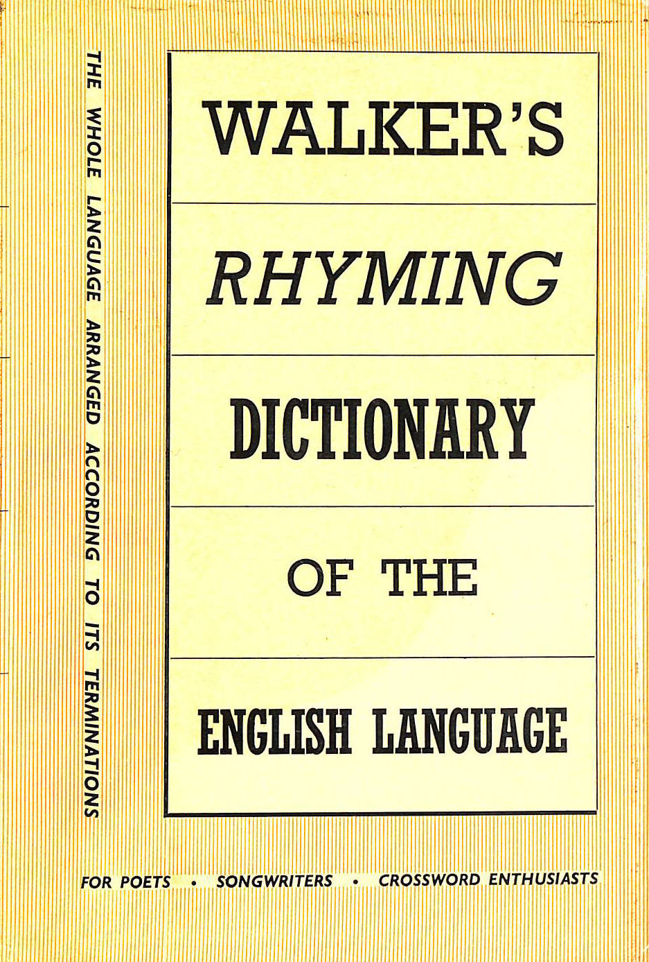 Image for Walker's Rhyming Dictionary of the English Language