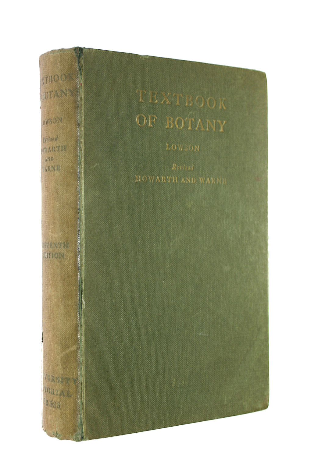 Image for TEXTBOOK OF BOTANY. Revised and largely rewritten by W. O. Howarth ... and L. G