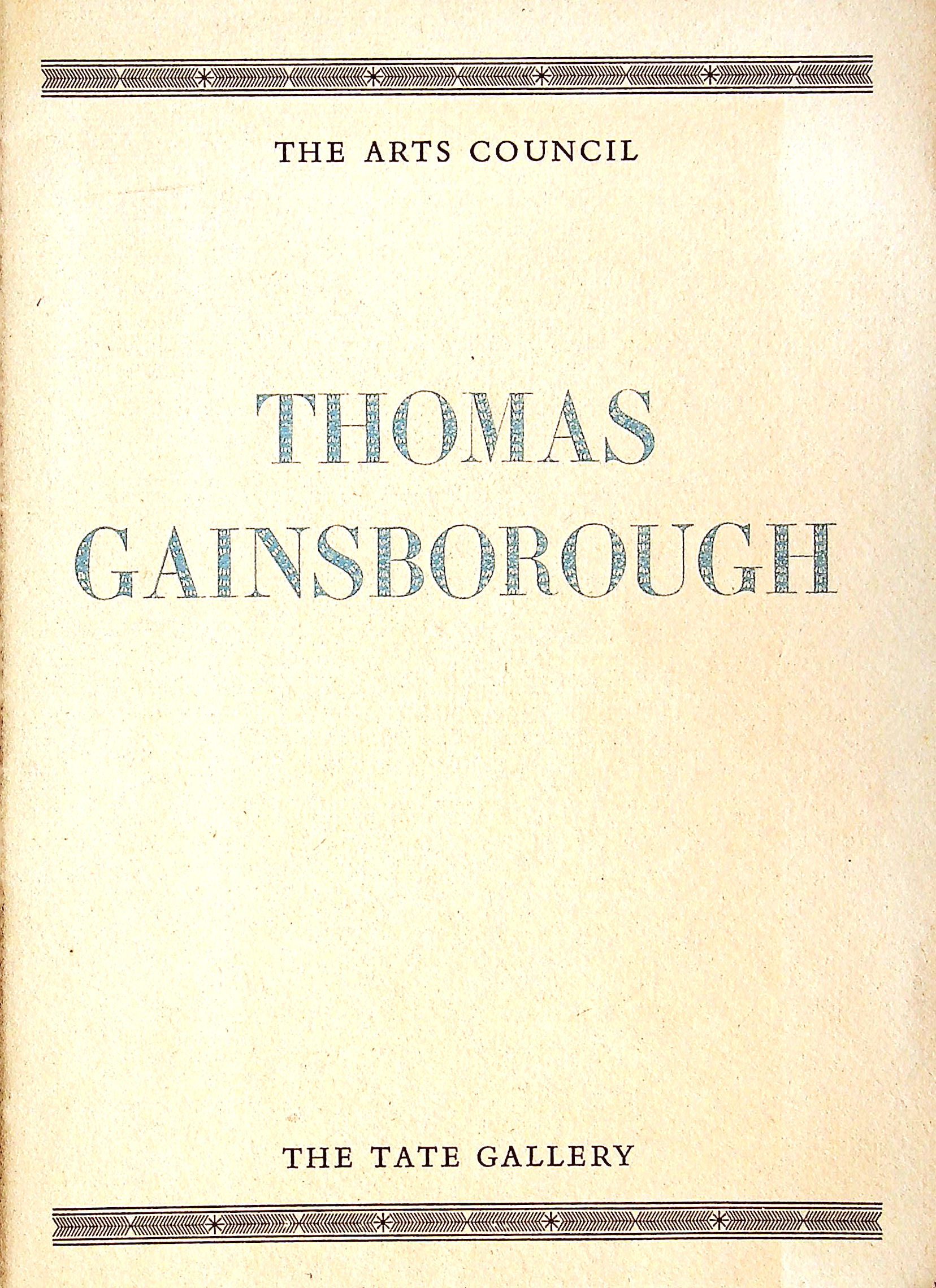 Image for Thomas Gainsborough 1727-1788, An Exhibition Of Paintings,