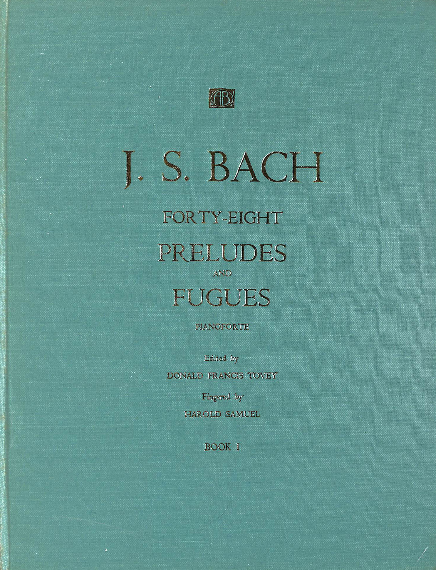 Image for Bach Forty-Eight Preludes and Fugues Book 1 (Tovey and Samuel)