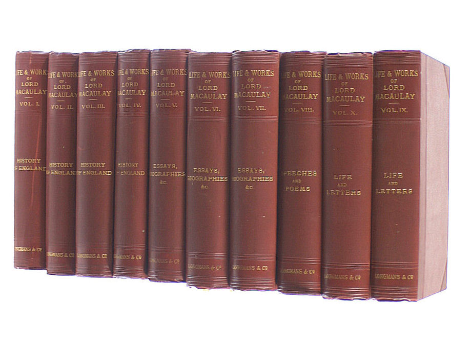 Image for The Life & Works of Lord Macaulay in Ten volumes